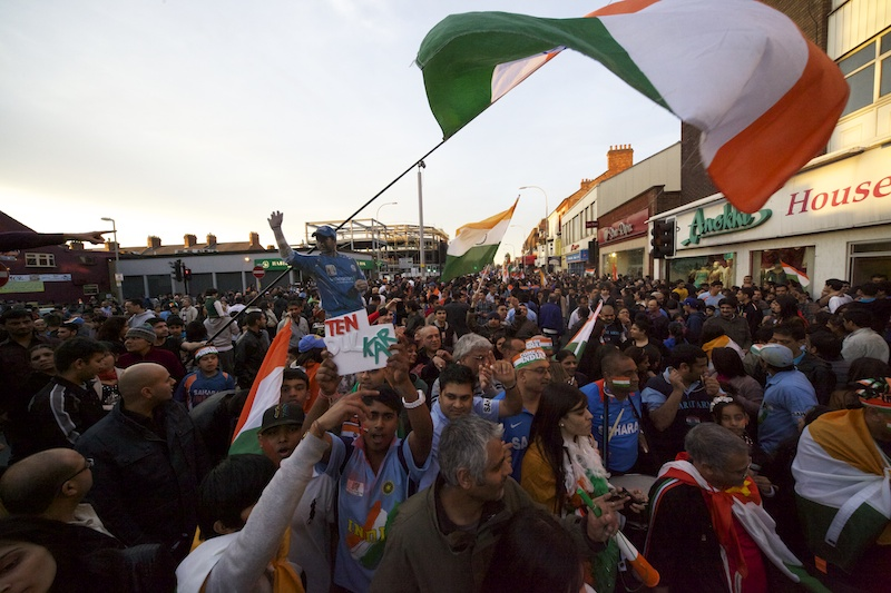 India ICC cricket world Cup win, Celebration Leicester